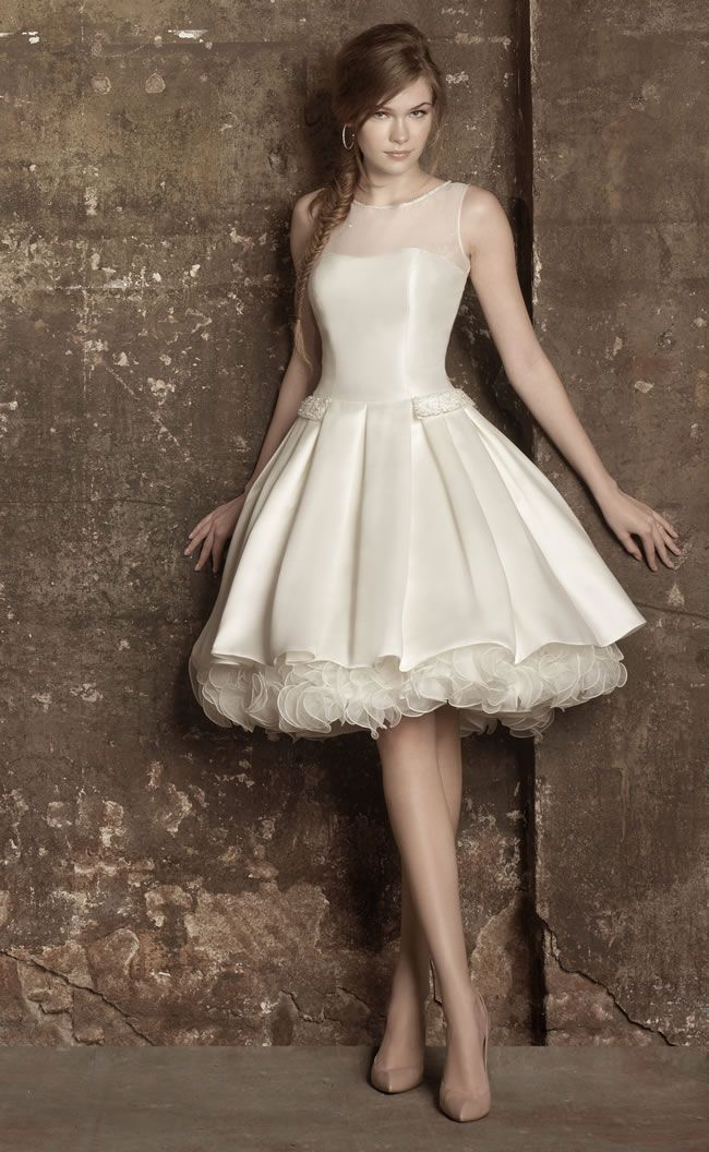 12 of the best 50s-style short wedding dresses for 2013