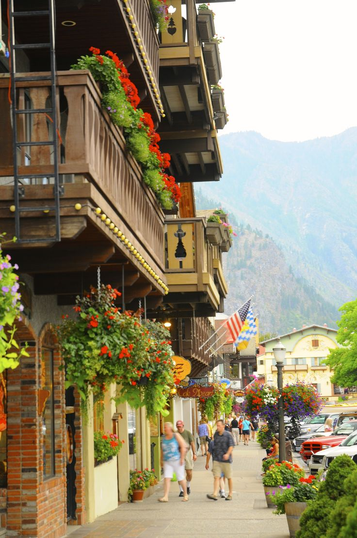 Bavarian village-Leavenworth, Washington.
