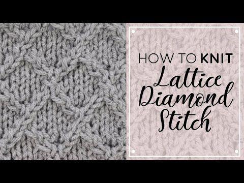 HOW TO: KNIT LATTICE/DIAMOND STITCH | Easy Cross Stitch