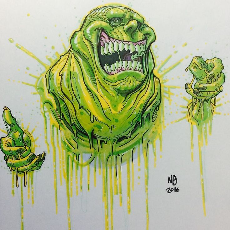 #slimer #ghostbusters #ghost #idw #idwcomics #art #drawing #sketchcover #1980s by nkwbradshaw