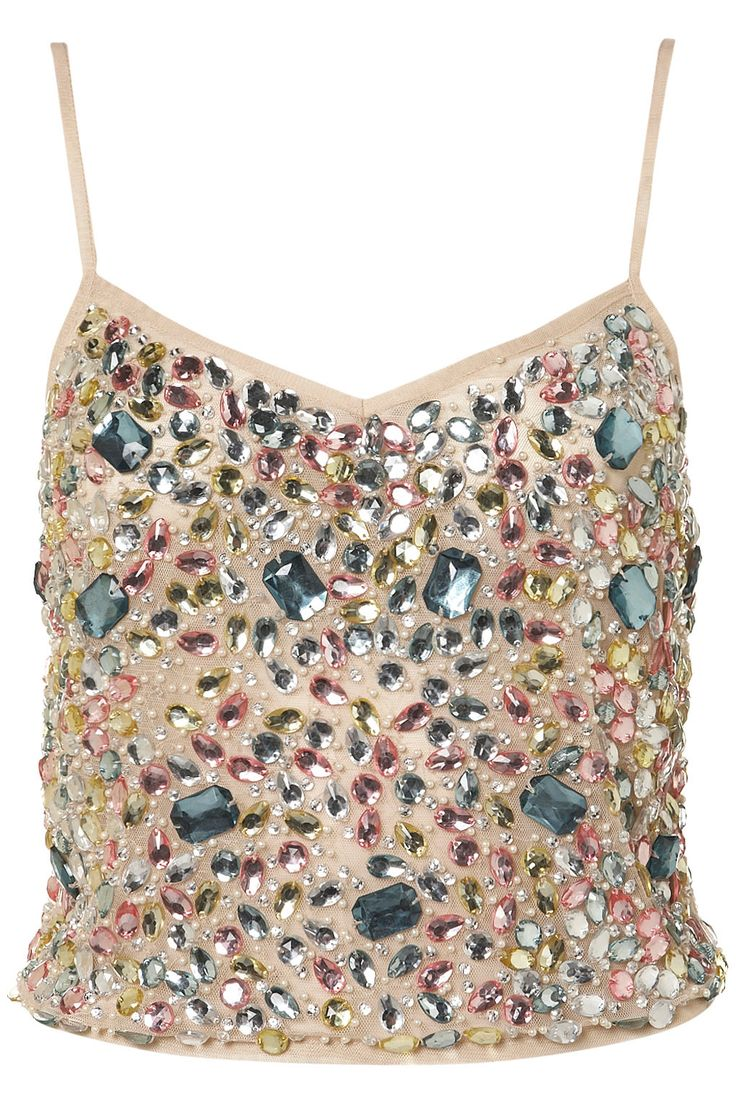 Jewel Embellished Cami TopTopshop Embellishments, Style, Crop Tops, Jewels Tops, Fashion Inspiration, Cami Tops, Jewels Embellishments, Topshop Jewels, Embellishments Cami
