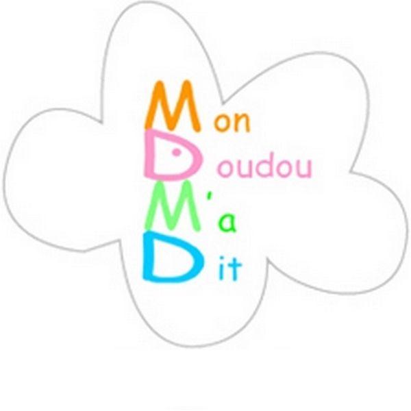 le logo de marque Mon Doudou M'a Dit marque française dédiée aux petits et grands www.mondoudoumadit.fr