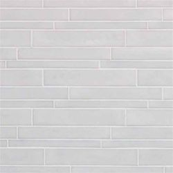 Vetro Neutra Listello Sfalsato Glass Mosaic Tile | Bianco. Mission Stone & Tile company (have samples). $21.95/sheet