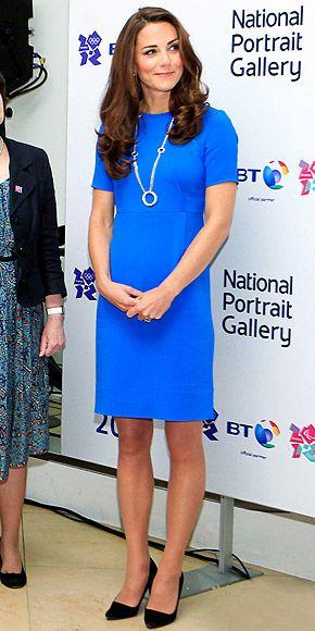 KATE MIDDLETON photo | Kate MiddletonDuchess Of Cambridge, The Duchess, Stella Mccartney, Middleton Photos, Blue, Shift Dresses, Kate Middleton, Middleton Style, Catherine Duchess