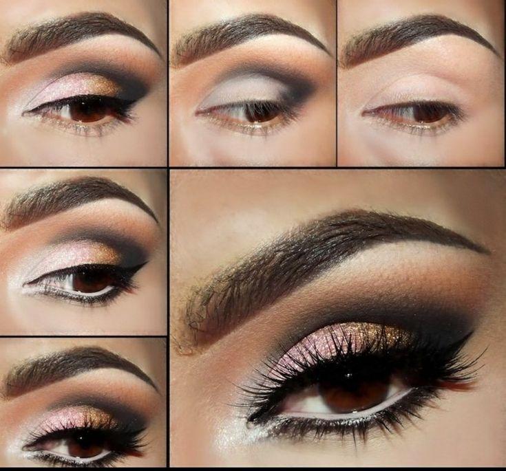 tutoriel photos de maquillage yeux marron