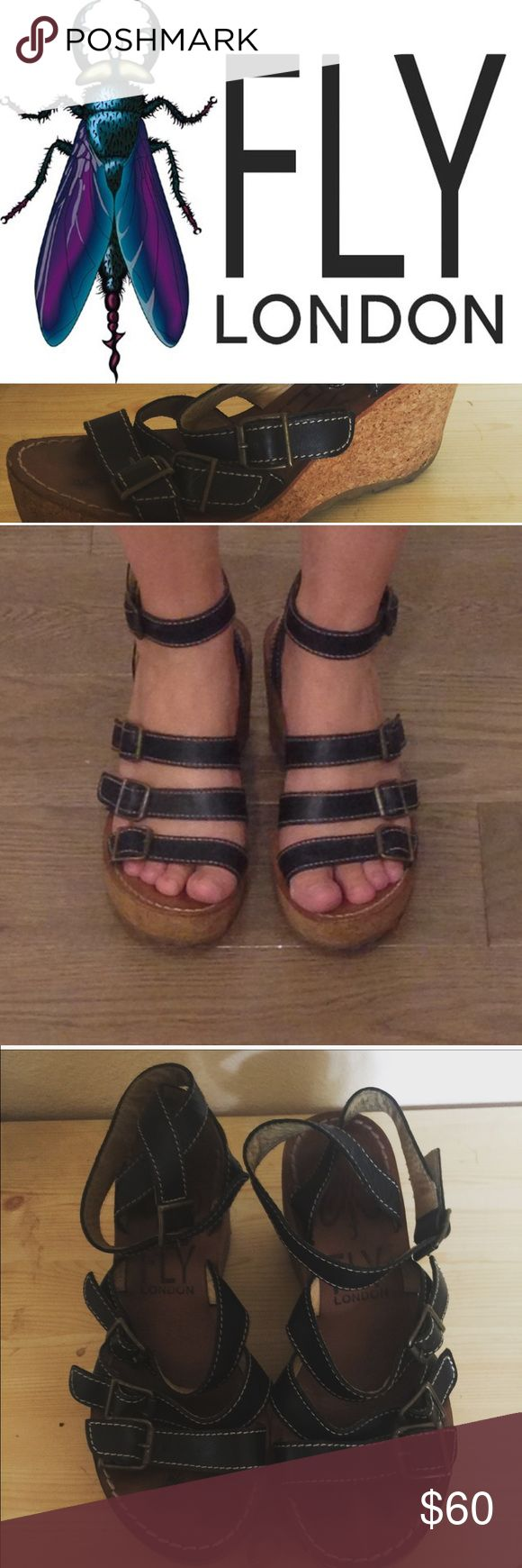 🎀 Why Not Wednesday 🎀 Great black leather sandals from Fly London. They have been worn, please note the pictures, but are still in great wearable condition. Euro 39. Fly London Shoes Wedges