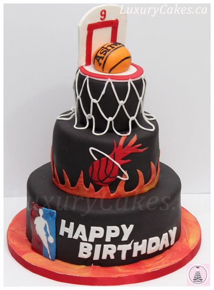 Basketball themed cake, man I want one of these for my BDAY!!!!