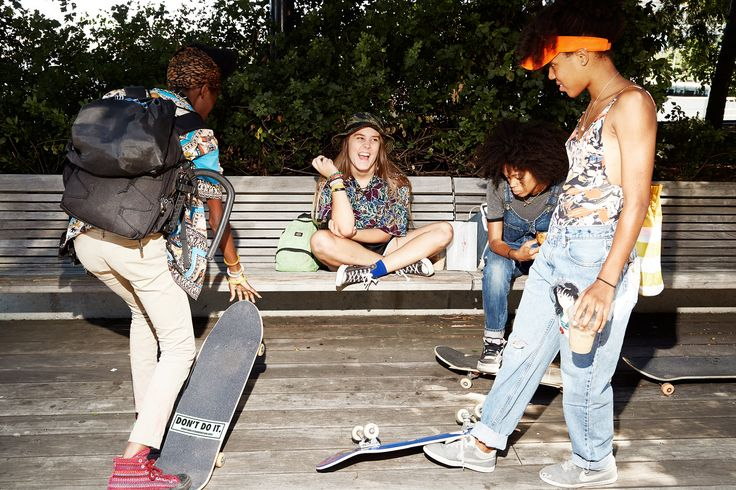 The stars of Crystal Moselle's new short film for Miu Miu are six female skaters…