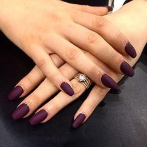 Image via We Heart It #matte #nailart #nails #purplenails #coffinnails
