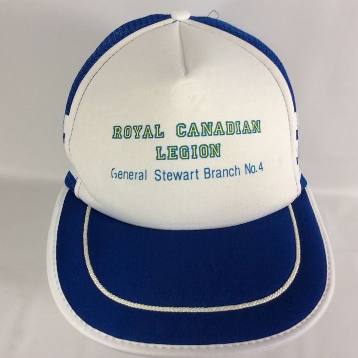 Royal Canadian Legion RCL General Stewart Br 04 Snap Back Canada VTG Trucker Hat #Unbranded #TruckerHat
