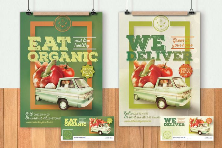Organic Food Flyer & Poster by CreativeForm on Envato Elements