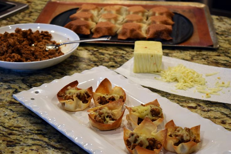 """Football season is here, so we're bringing out the Face Rock bites - perfect appetizers for your game day parties! These """"In Your Face"""" Wonton Taco Bites can help you kick off the season!"""