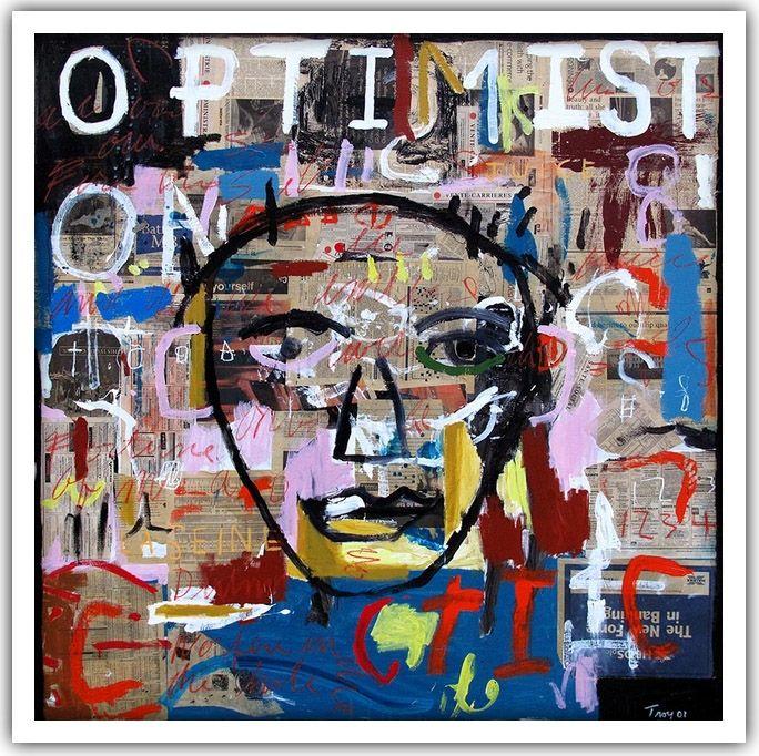Troy Henriksen - Optimist - Acrylique et mixte sur toile - 150 x 150 cm - 2001 - Galerie W - Galerie d'Art contemporain à Paris #galeriew #gallery #w #gallery w #troy-henriksen @galeriew
