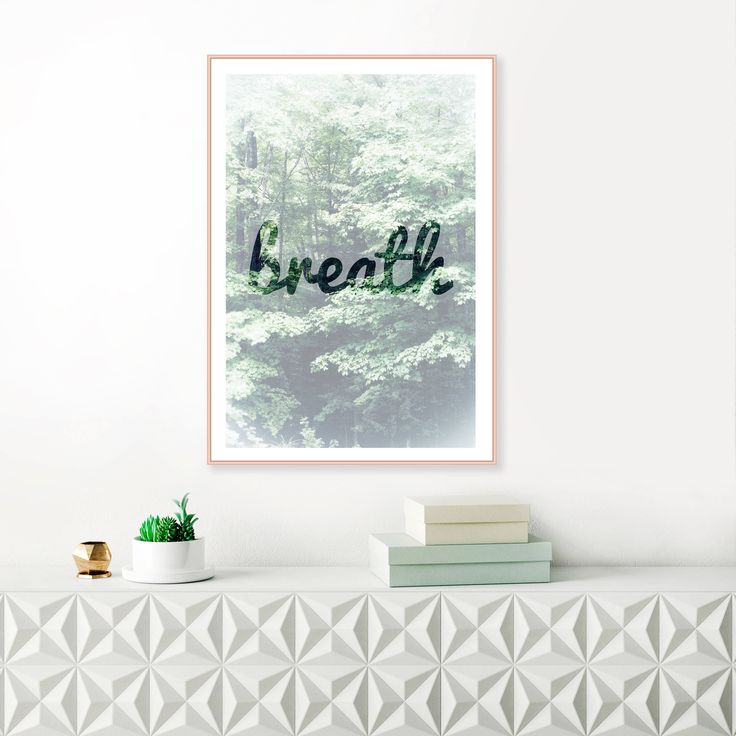 Excited to share the latest addition to my #etsy shop: Forest wall Art, Forest Print, Tree Print, breath print, Forest Wilderness, Fog Forest, Nature Wall Art, Scandinavian decor, quote poster