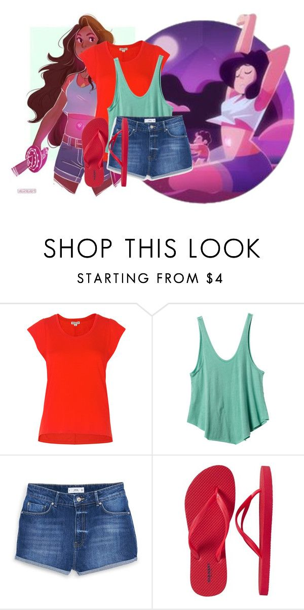 """""""Stevonnie-steven universe"""" by wynysc23 ❤ liked on Polyvore featuring Whistles, RVCA, MANGO and Old Navy"""