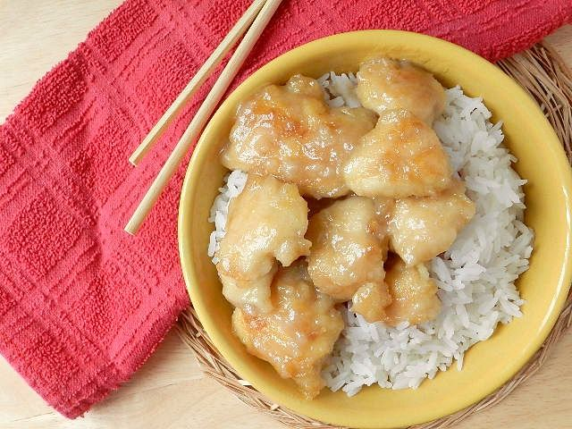 chinese coconut chicken. seriously the most amazing coconut chicken ever. you will be fighting over the leftovers!
