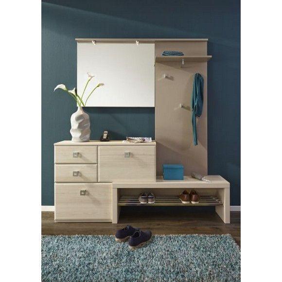 Garderobe in beige vielseitige kombination f r for Garderobe schuhschrank kombination