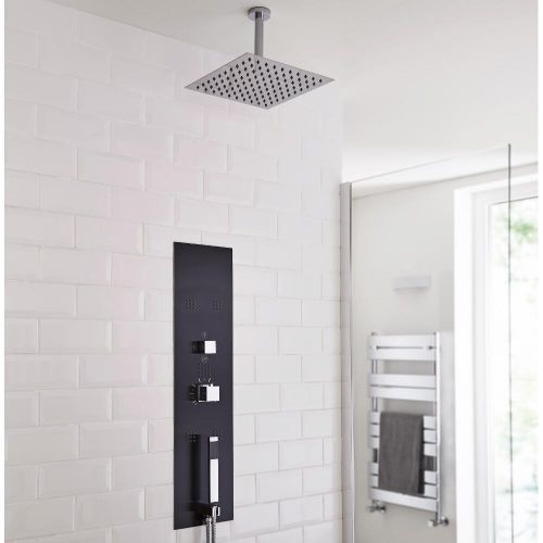 The Milano Lisse Shower Tower With Ceiling Head Is Sure To Add Designer Style To Any Modern Bathroom Shower Panels Big Bathrooms Shower Tower