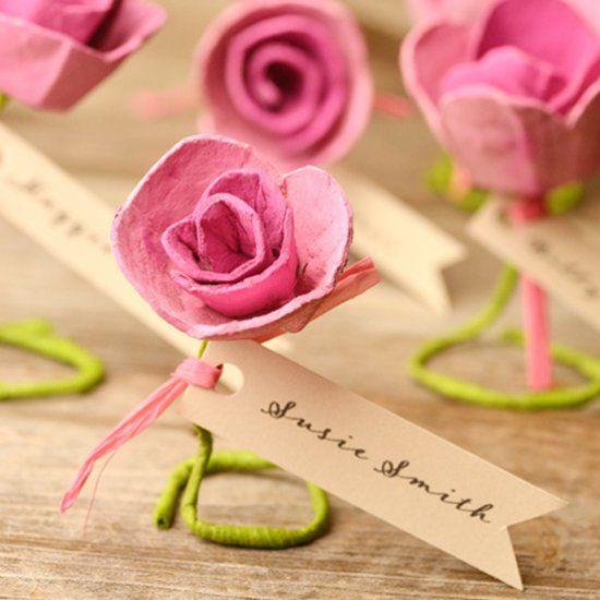 how to make egg carton roses