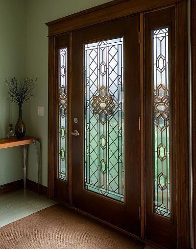 54 best door glass inserts images on pinterest door - Decorative glass exterior door inserts ...