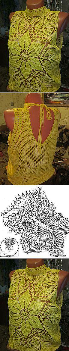 желтая блузочка от Татьяны Семибратовой.