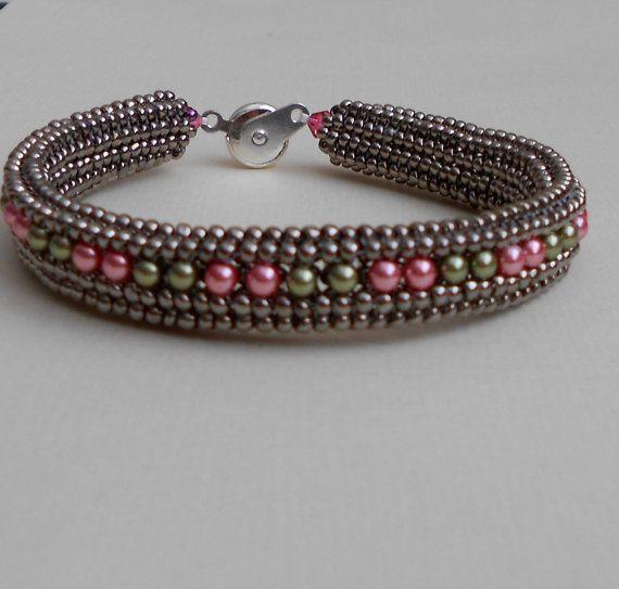 beaded bracelet by beadnurse on Etsy