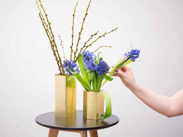DIY-Anleitung: Hexagon-Vase aus Messingplatte selber machen via DaWanda.com