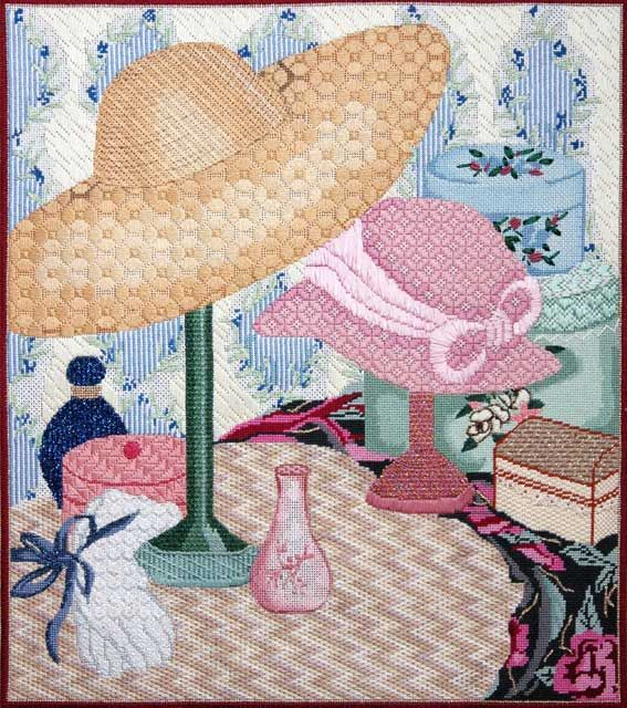 Amy's Golden Strand | Photo Gallery | Amy Bunger | Needlepoint, summer hats