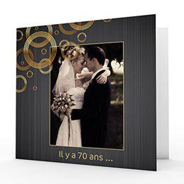 Invitation Noces de Platine à personnaliser sur Carteland #anniversaire #mariage