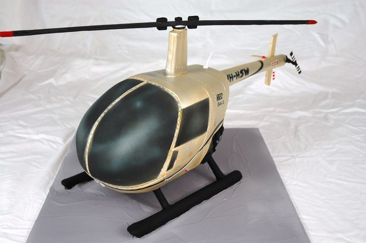 A replica of someones helicopter that they learned to fly...