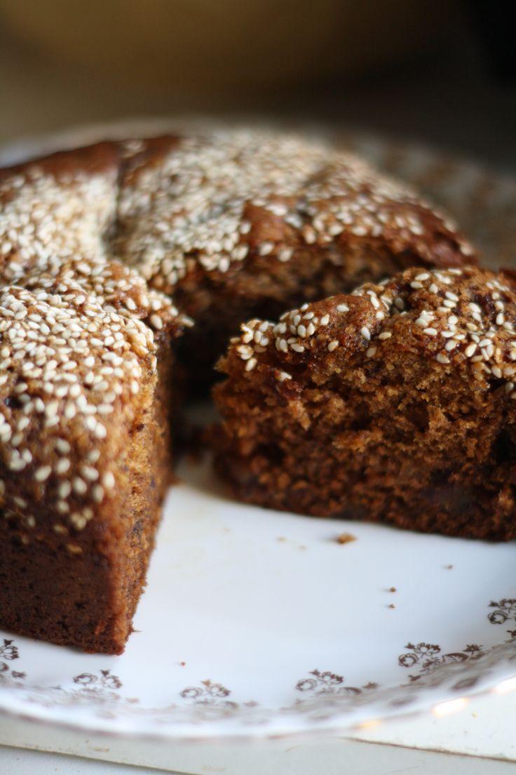 tahini cake.                                                                                                                                                      More