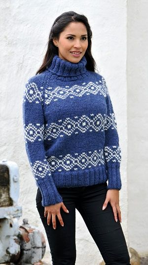 Strikkeopskrift på en lækker sweater