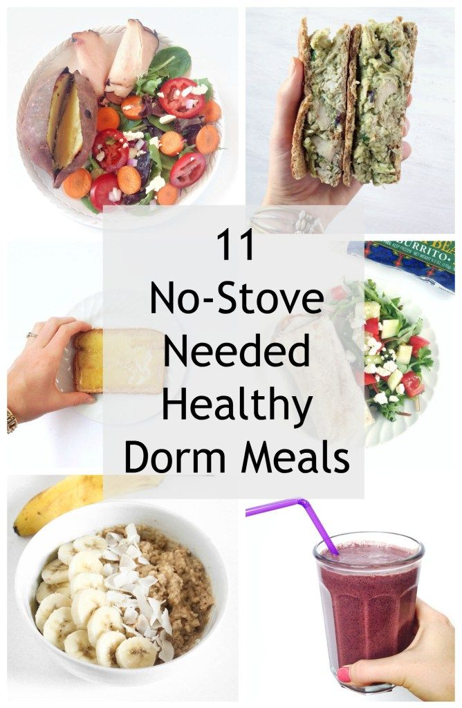 Ideas for easy, healthy dorm room meals!