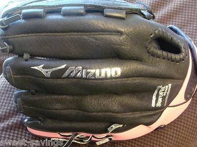 "MIZUNO FINCH 12"" LEATHER SOFTBALL GLOVE - LIKE NEW: Mizuno Finch, Athletic Side, Black Leather, Finch Softball, Leather Softball, Leather Baseball, Finch 12"