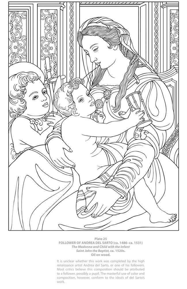 Welcome to Dover Publications Dover Masterworks: Color your own Italian Renaissance Paintings