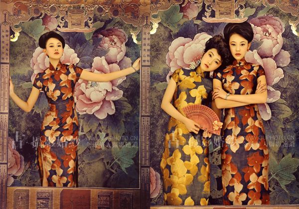 古摄影新样片:胭脂蔻. Lovely 1930's vintage replica of Chinese pinup posters.
