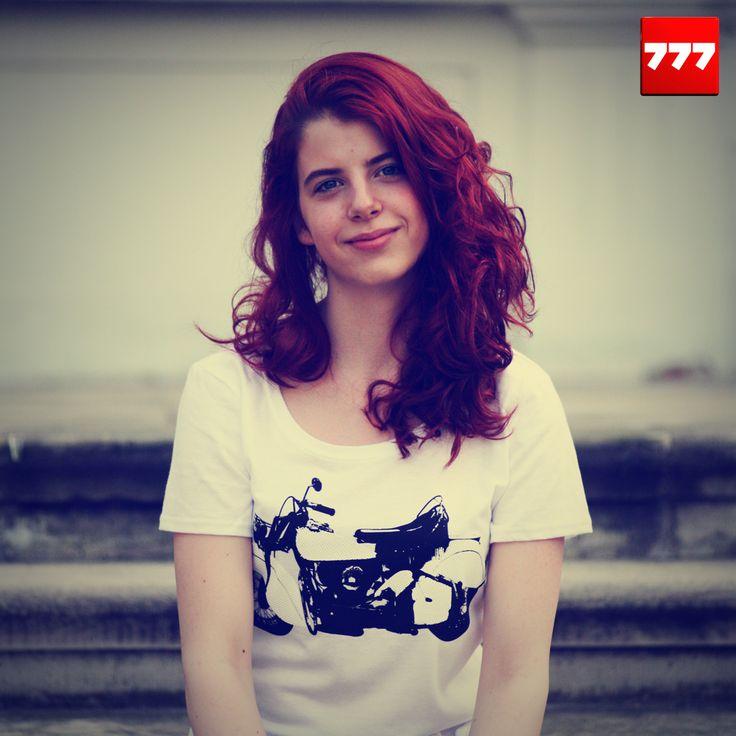 #777 #tshirt #motor #bike #indian http://sklep.galeria777.pl/pl/p/T-MOTOR-white-LADY/121 https://www.facebook.com/Tshirt777