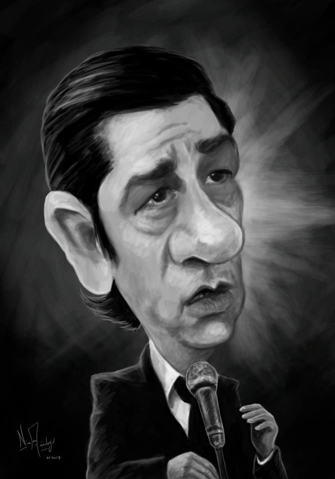 (Caricatura) Alfredo Zitarrosa. Musico uruguayo.
