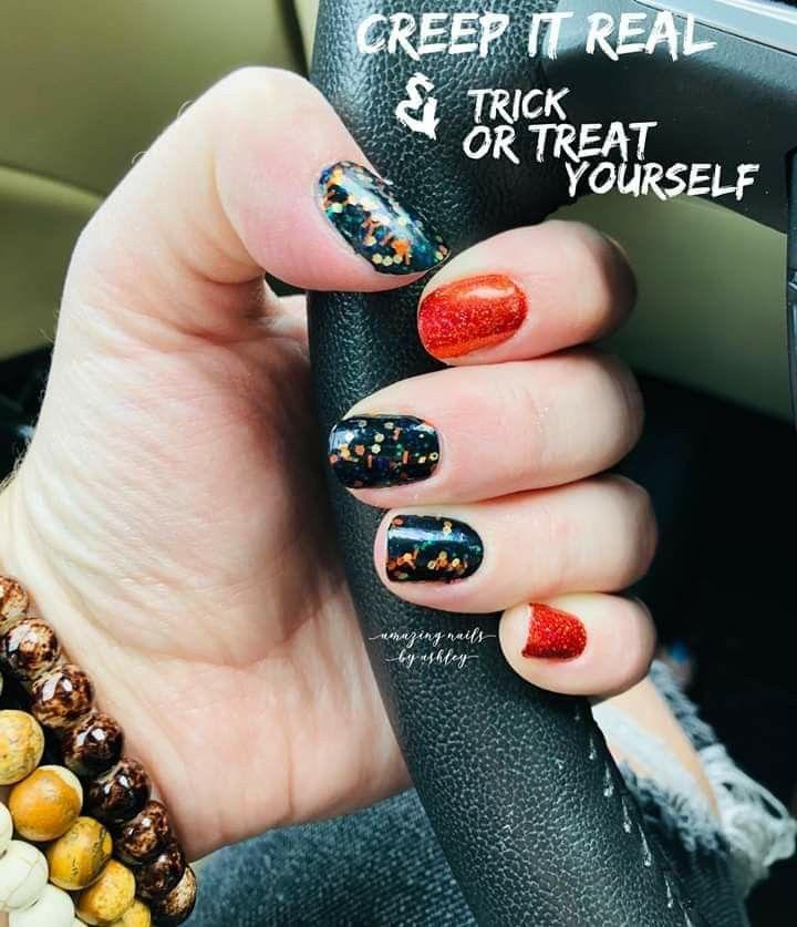 Red and Black Halloween Nail Polish | Color street nails ...