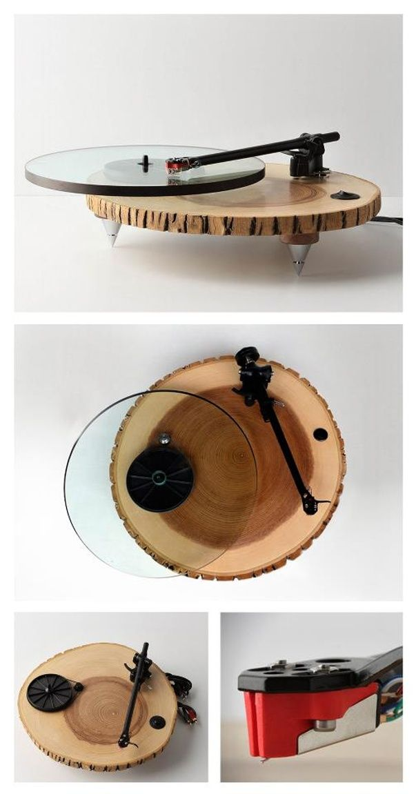Audiowood Barky Turntable designed by Joel Scilley.  http://audiowood.com/index.html