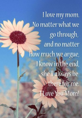 Happy mothers day card sayings for mommy from son, daughter.