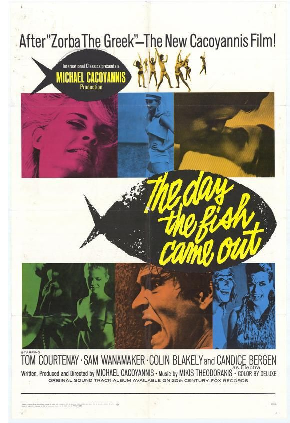 Sixties | The Day the Fish Came Out, starring Tom Courtenay, Sam Wanamaker, Colin Blakely, Candice Bergen and Ian Ogilvy, 1967