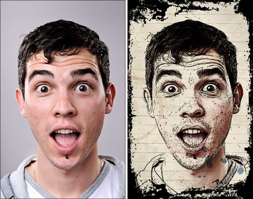 From photo to ink drawing in Photoshop