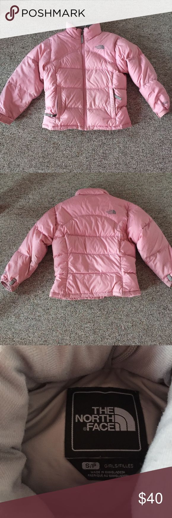 Girls North Face Winter Coat Cue pastel pink North Face Winter coat for girls. Perfect for the cold and gently used. US ONLY!! The North Face Jackets & Coats