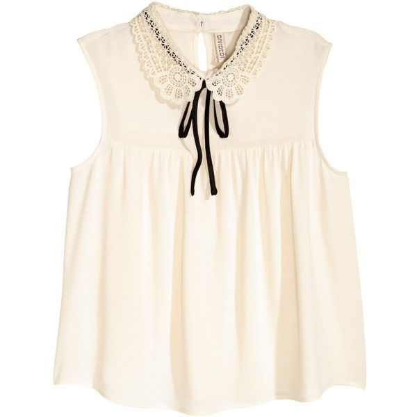 blusa color crema