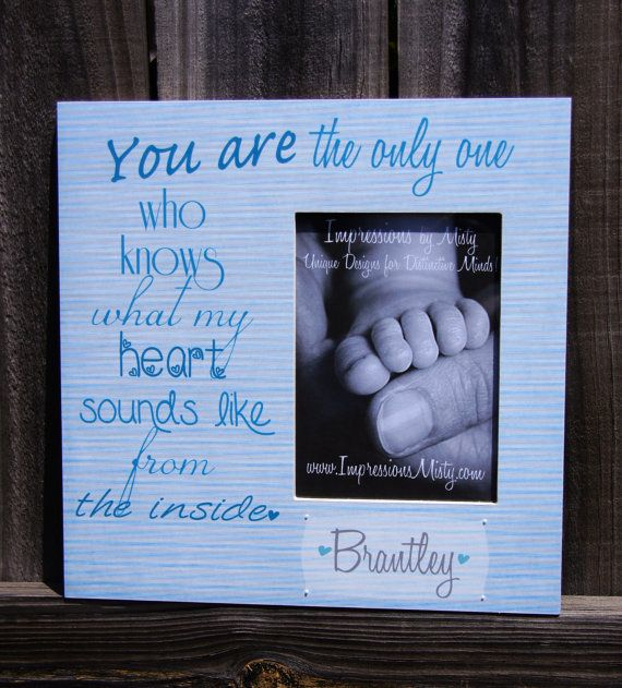 75 best personalized picture frames images on pinterest frame personalized baby picture frame w quote perfect for expecting mothers 55 giftideas negle Image collections