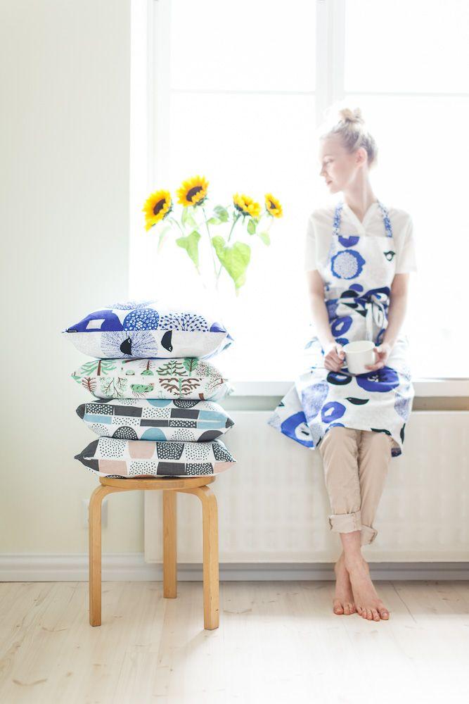 {Scandinavian patterned textiles} Matti Pikkujämsä & Hanna Konola for Kauniste