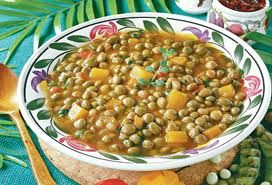 Must, must have yuh Pigeon Peas. (with coconut milk). This is what the traditional Sunday meal used to be.