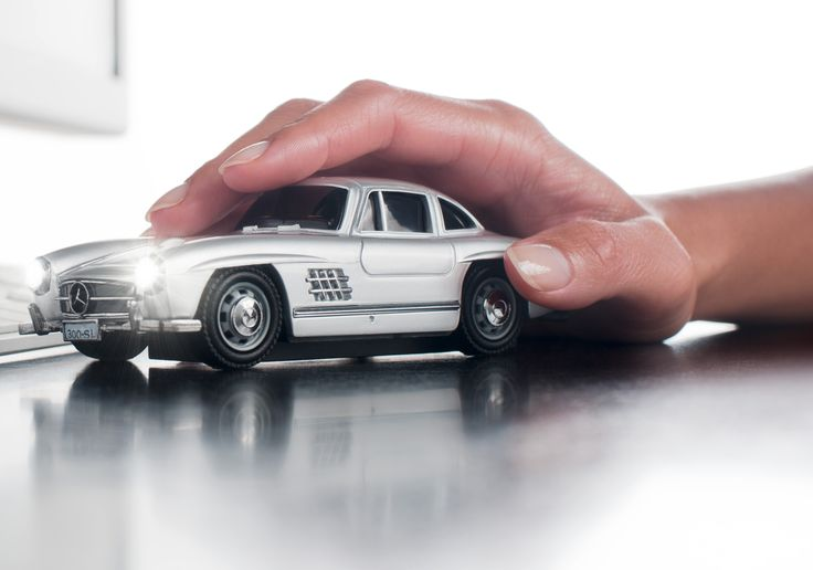 Mercedes-Benz 300SL Oldtimer Silver Wireless Mouse
