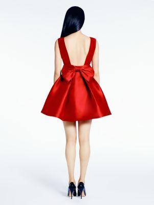 Do I need a feisty red dress? Not really. Do I need THIS feisty red dress? Debatable ;p  open back silk mini dress - kate spade new york